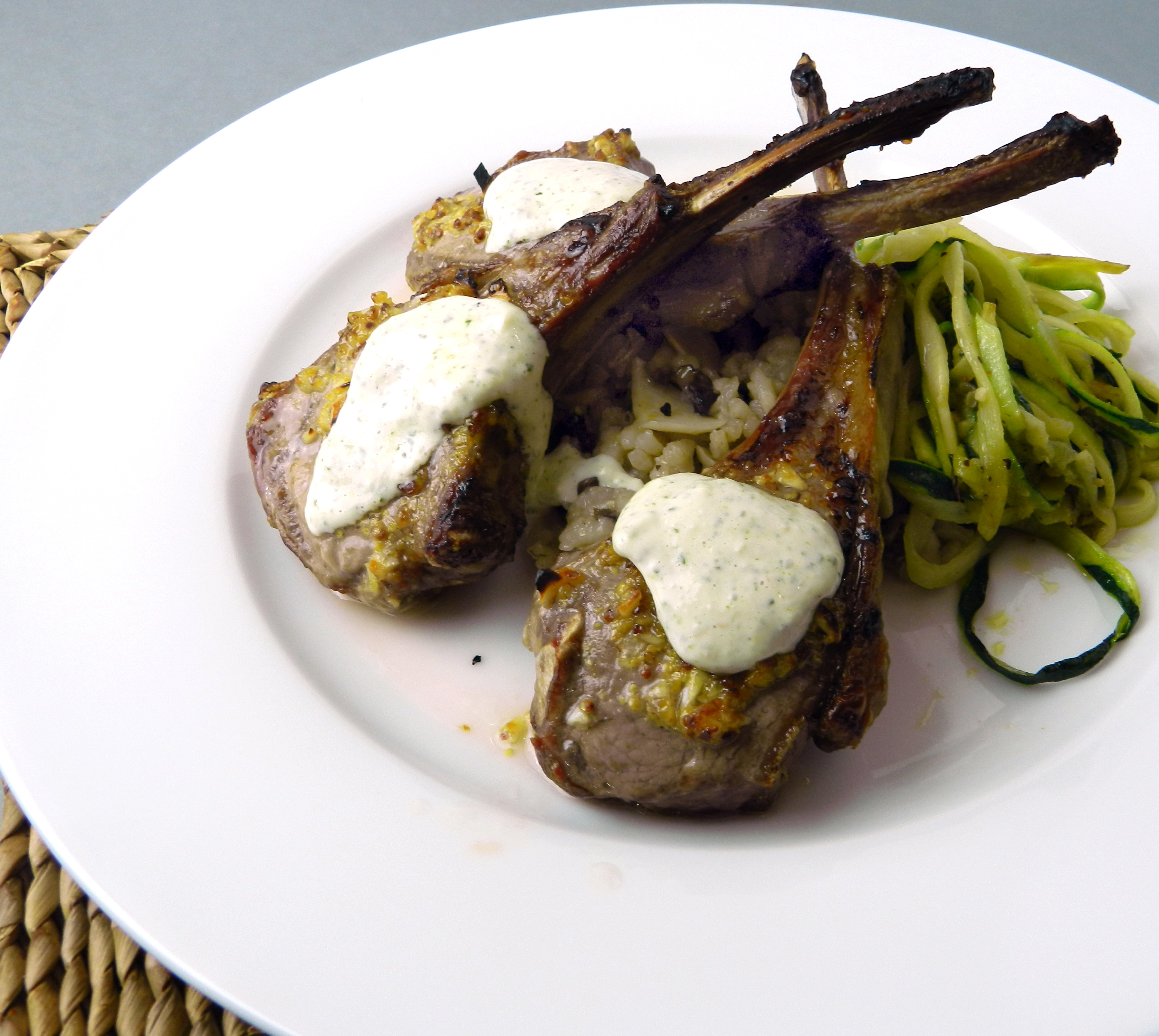 Grilled Lamb Chops with Mint Aioli - Discovery Cooking